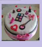 moms makeup kit cake - MOM2014F