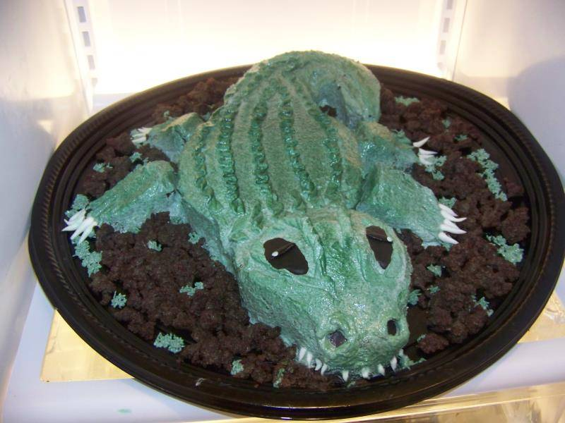 My Cake #17,  'See you later, Alligator!'