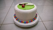 bat and ball cake