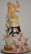 Dragon & Lily Cake