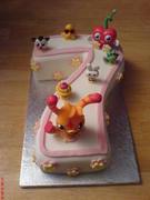 Mooshi Monsters 7TH Birthday Number Cake