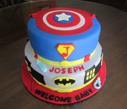 Baby Shower superhero cake
