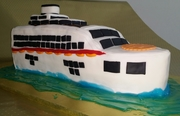 a Cruise Liner  cake