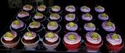 Golden Crown Birthday cupcakes