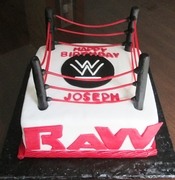 Raw WWE Birthday Cake