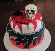 Halloween/rock star Birthday cake