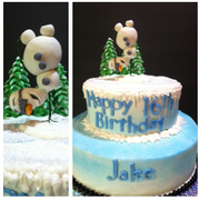 Olaf Handstand Cake