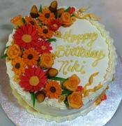 Gluten Free Fall Foliage Birthday Cake