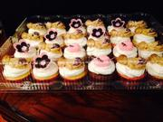 Pink and Black Zebra Theme Baby Shower Cupcakes