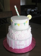 Lemonade Stand Theme 1st Birthday cake