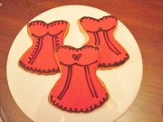 Red And Black Corset Sugar Cookies