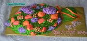 Flower bouquet cake