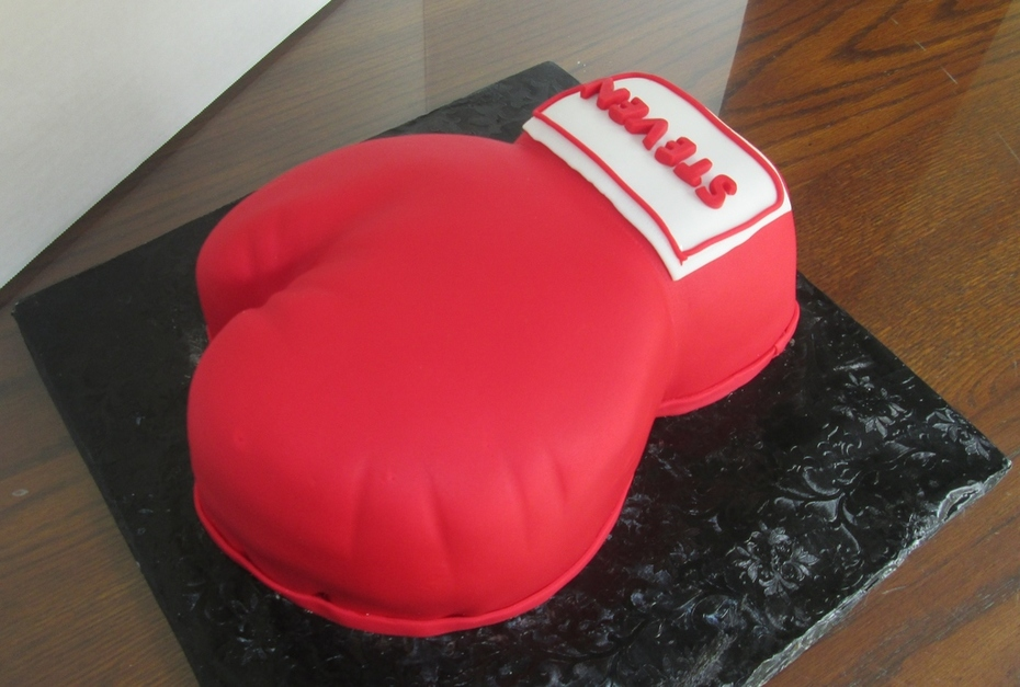 Red Boxing Glove Birthday Cake