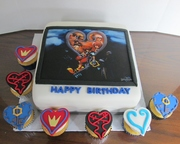 Kingdom Hearts Birthday Cake and cupcakes