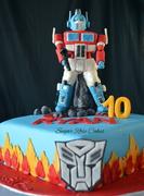 Optimus Prime Cake.