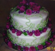 Very First Cake I made with fondant.
