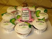 Very tiny Patron Cake and cupcakes