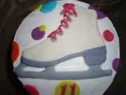 Ice-skating cake