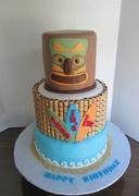 A Luau 1st Birthday Cake