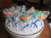 Teenage Mutant Ninja Turtles cake pops