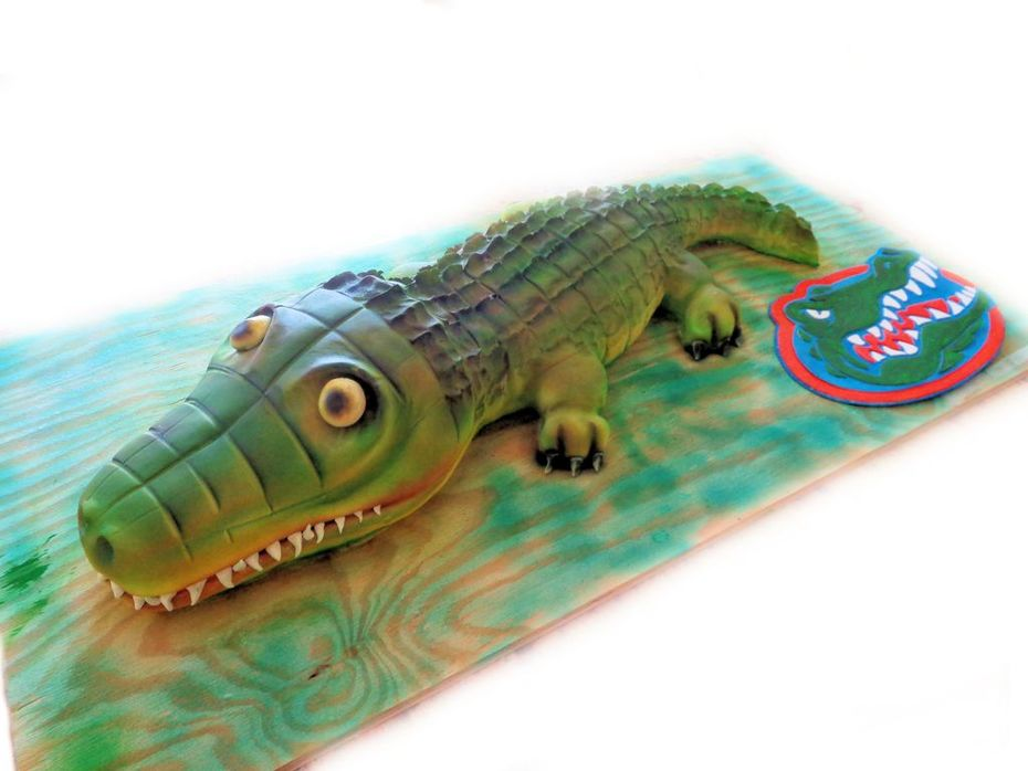 Magnificent Alligator 9Th Birthday Cake Cake Decorating Community Cakes We Funny Birthday Cards Online Alyptdamsfinfo
