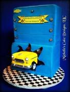 55 Chevy Yellow Cake
