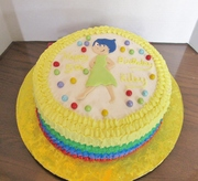 Pixar's Inside Out Birthday cake with Joy