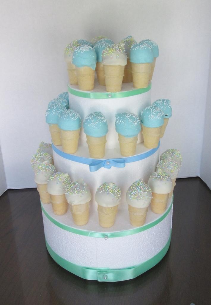 ice cream cake pops tower cake