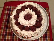 Chocolate and Meringue cake (top view)