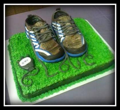 Marathon Runnuer Groom's Cake