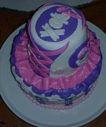 Pirate´s girly cake (top view)