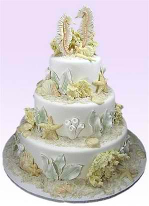 """Coral Reef Enchantment"" Wedding Cake"