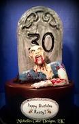 Zombie Grave Cake 1