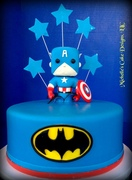 Captain America Batman Cake I