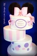 Minnie Mouse Off Set Cake