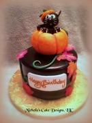 cat pumpkin cake