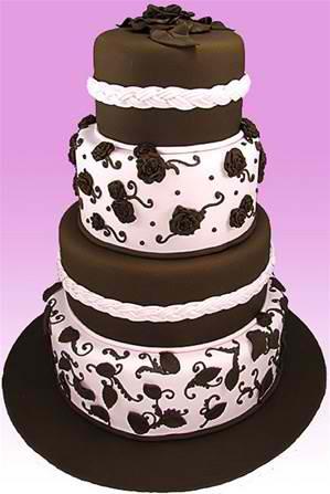 """Retro Elegance"" Wedding Cake"