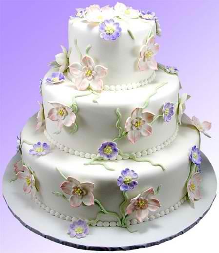 """Formal English Garden"" Wedding Cake"