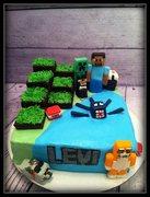 Mine Craft Cake