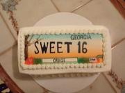 Nephew's Sweet 16 Birthday Cake