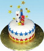 """""""Firecrackers for the 4th"""" Cake"""