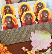 Turkey Topper Cupcakes