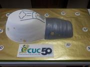 Jumbo Light Bulb 50th Anniversary Celebration Cake