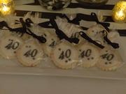 40th Birthday Sugar Cookies