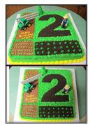 john deere tractor  2nd Birthday cake