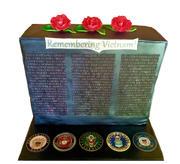 Vietnam Wall Military Appreciation Week cake