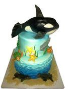 Under Sea 4th Birthday cake