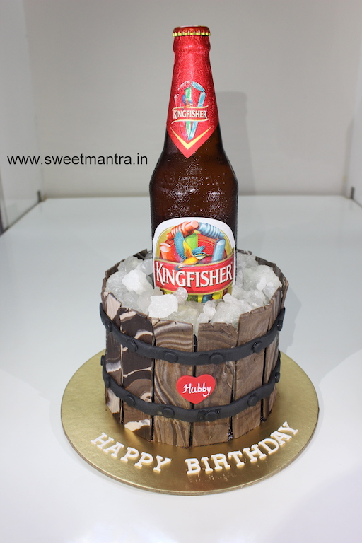 Phenomenal Kingfisher Beer Bottle Theme Customized Designer Fondant Birthday Personalised Birthday Cards Epsylily Jamesorg