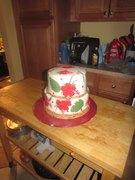 Red Hibiscus 40th Anniversary cake