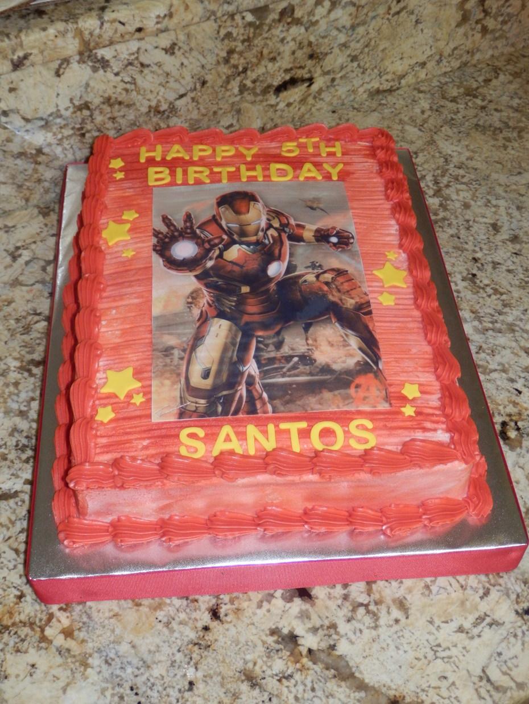 Terrific Ironman Birthday Cake Decorating Community Cakes We Bake Personalised Birthday Cards Paralily Jamesorg